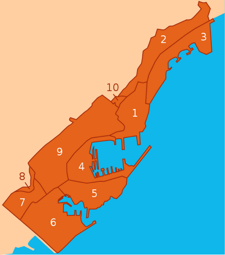 Monte Carlo, and other wards within Monaco