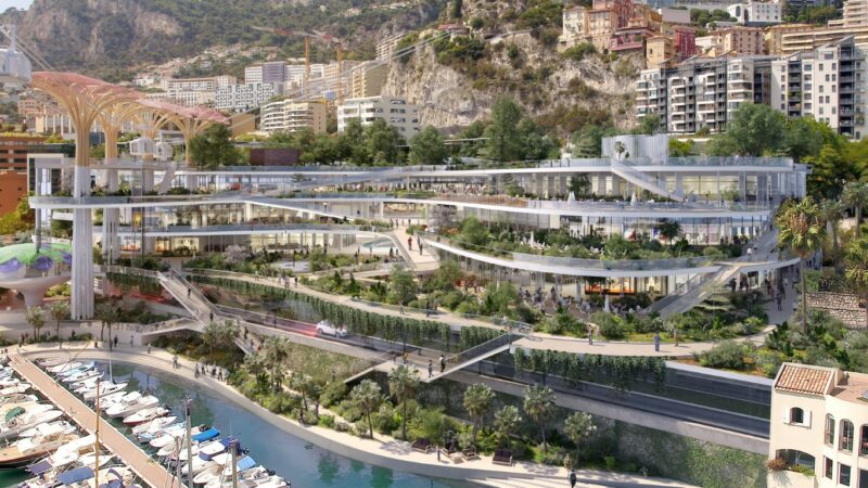 The Fontvieille Shopping Center in Monaco will be redesigned to have more green spaces