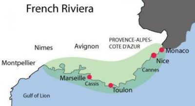 A Map of French Riviera