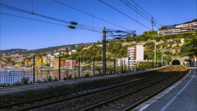 A railway in French Riviera