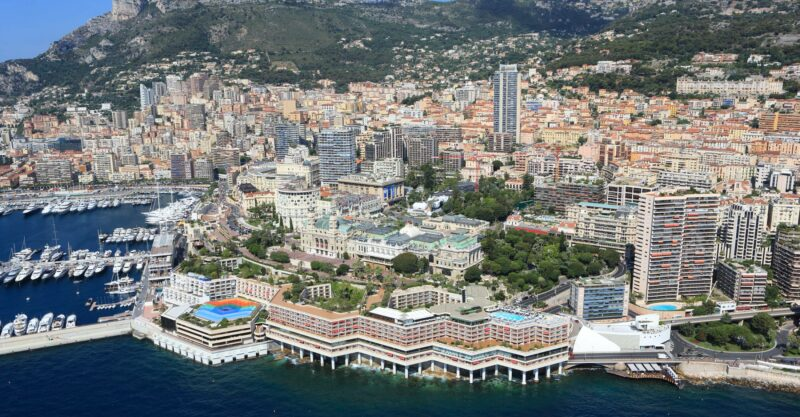 An aerial view of the area around Carre d'or