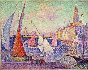 Saint-Tropez, le quai, Paul Signac, 1899