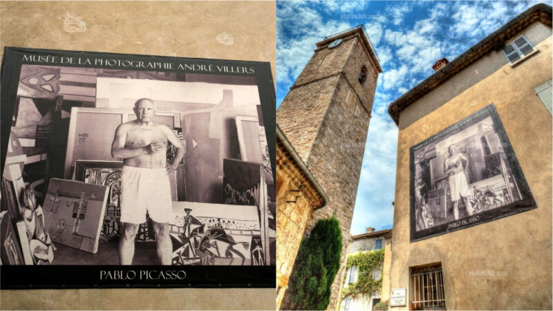 Musee de la Photographie features pictures and portraits of Picasso in Mougins