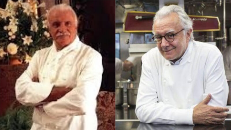 Chef Vergé (left) and Chef Ducasse (right)