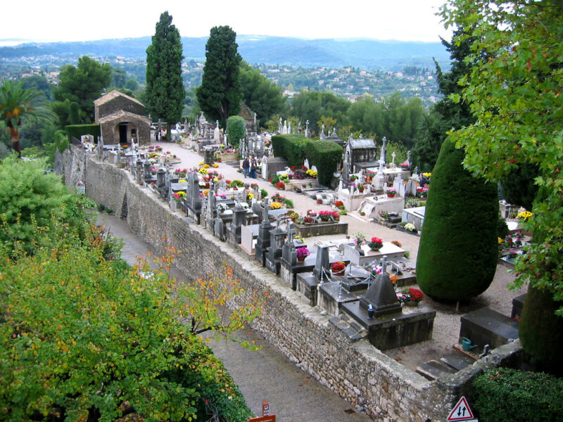 Cemetery where Chagall is laid
