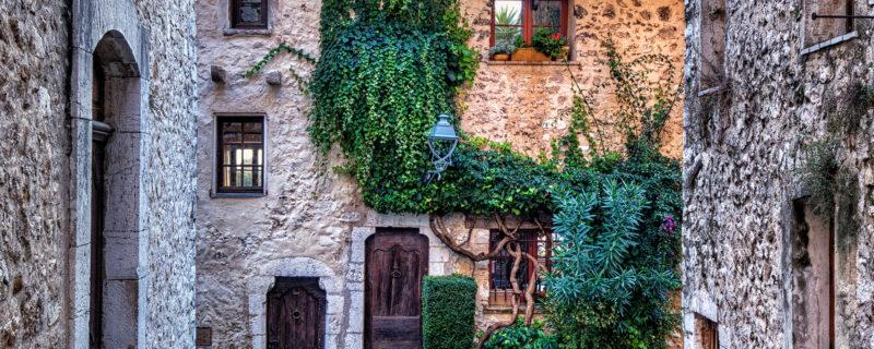 Old brick cottages
