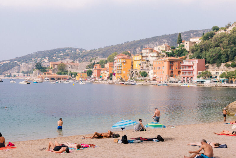 The beach of Villefranche