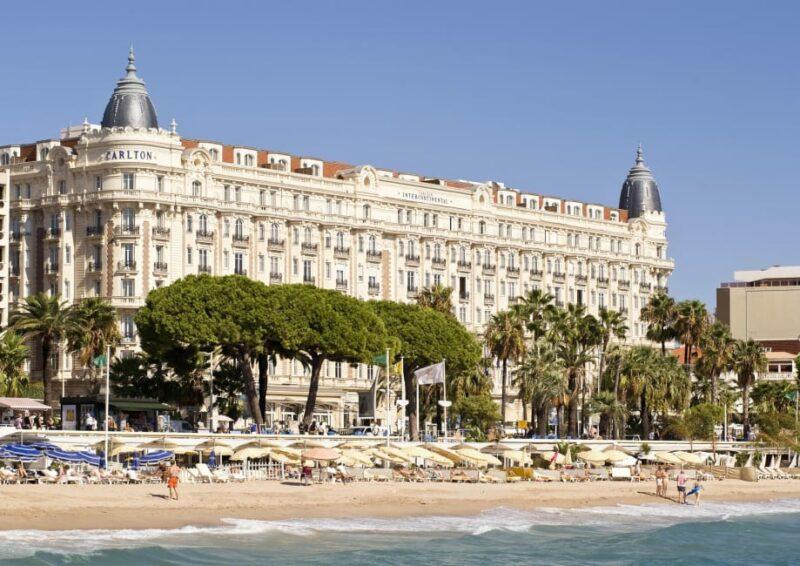 The Intercontinental Carlton Hotel facing the Mediterranean Sea