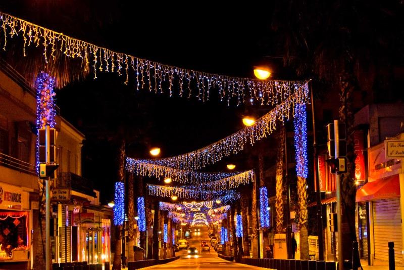 antibes juan les pins christmas lights
