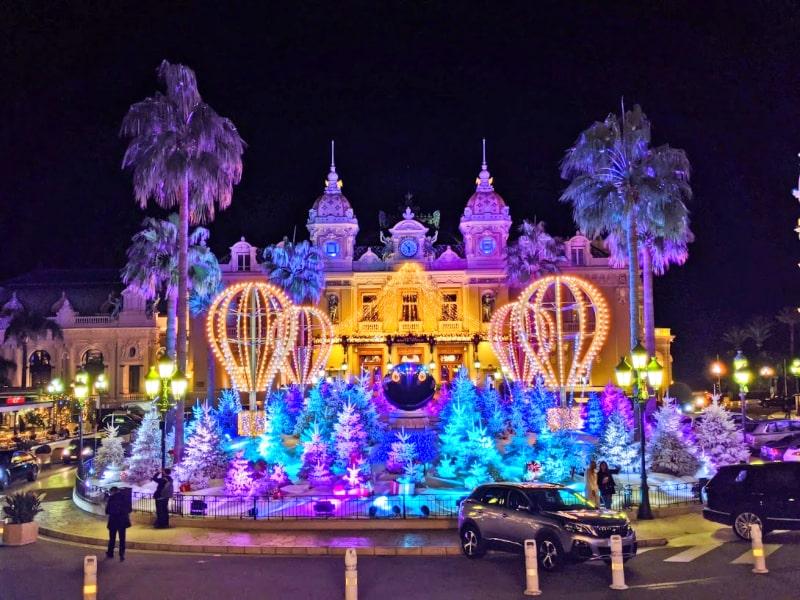 Casino de Monte-Carlo Christmas decors, Monaco