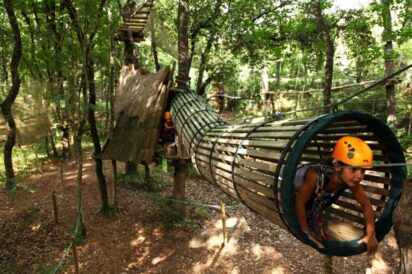 travel and play in pitchoun forest with kids and teens in french riviera